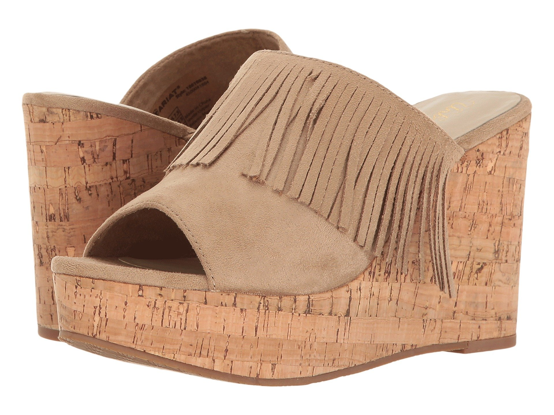 ARIAT Unbridled Leigh Fringe Mule (Women) in Sand