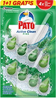comprar comparacion PATO - Active Clean colgador para inodoro, frescor intenso, perfuma y desinfecta, aroma Pino, 2 unidades, Estándar