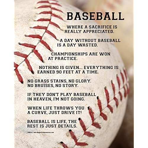 "7fa5fcba Posters and Prints by Magnetic Impressions Unframed Baseball Player Sayings  8"" x 10"" Sport"