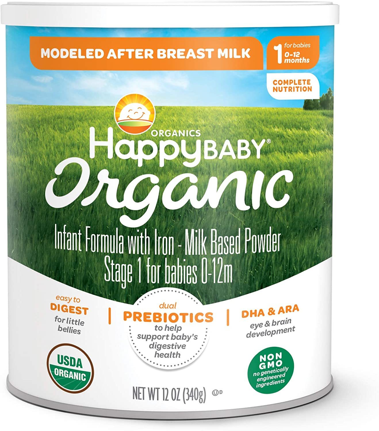 Happy Baby Organics Infant Formula Milk Powder Based OFFicial Max 42% OFF with Iron