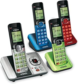 VTech CS6529-4B 4-Handset DECT 6.0 Cordless Phone with Answering System and Caller ID, Expandable up to 5 Handsets, Wall-M...