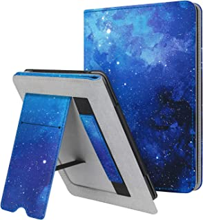 Fintie Stand Case for Kindle Paperwhite (Fits All-New 10th Generation 2018 and All Paperwhite Generations) - Premium PU Leather Protective Sleeve Cover with Card Slot and Hand Strap, Black