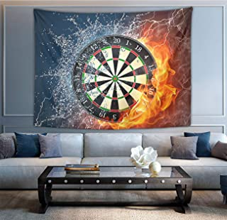 NiYoung Hippie Tapestries Bohemian Hippy Tapestries, Dart Board Target Ice Water Fire Wall Hanging Throw Room Decor Bedding Tapestry Living Room Collage Dorm