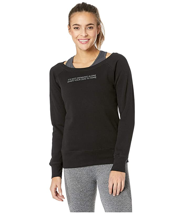 FOR BETTER NOT WORSE Drink With Your Dog Sweater (Black) Women