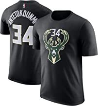 Outerstuff NBA Youth Performance Game Time Team Color Player Name and Number Jersey T-Shirt (Large 14/16, Giannis Antetokounmpo Black)