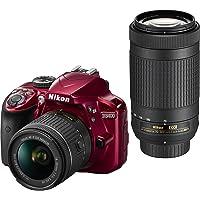 Nikon D3400 24.2 MP DSLR Camera w/18-55mm & 70-300mm Lens Refurb
