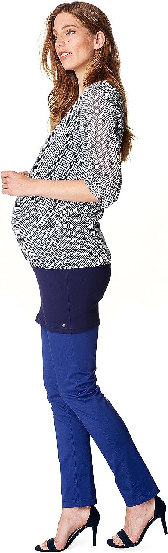 Night Blue ESPRIT Maternity Umstandsmode Damen Tunika halbtransparentem Oberteil O84350 Farbe 486