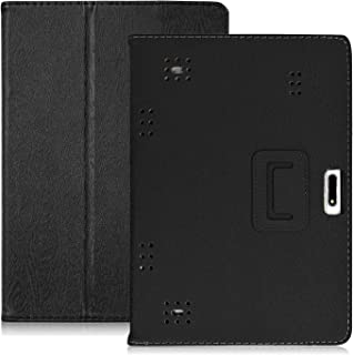 YELLYOUTH 10.1 inch Android Tablet Case, DETUOSI-PU Leather Folio Cover fit for Plum 10