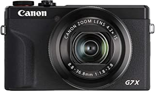 Canon PowerShot G7 X Mark III - Cámara Digital (20.1 MP Pantalla táctil LCD Plegable de 7.5 cm Pantalla abatible WLAN Zoom de 4.2X 4K CMOS) Negro