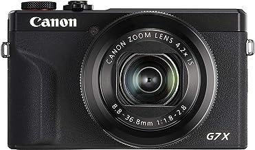 Canon PowerShot G7 X Mark III - Cámara Digital (20.1 MP, Pantalla táctil LCD Plegable de 7.5 cm, Pantalla abatible, WLAN, Zoom de 4.2X, 4K, CMOS) Negro