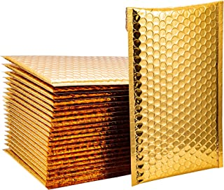 Space Seal Set of 50 Metallic Gold Bubble Mailers 6x10 Inch Padded Envelopes Bubble Envelopes Self Seal Shipping Envelopes