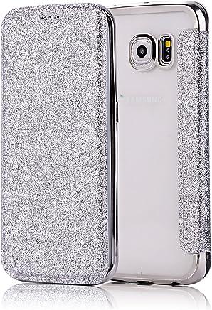 coque girlyard galaxy s6 miroir en silicone or rose
