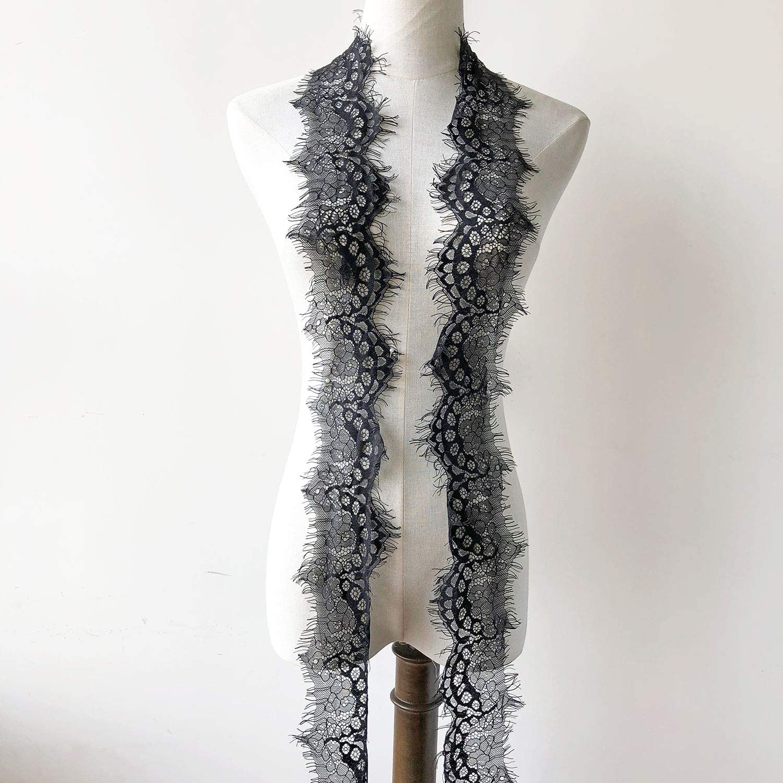 ivory chantilly lace trim eyelash lace trim wedding lace trim 3 yards