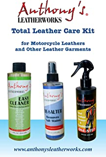 Anthony's Leatherworks Total Leather Care Kit for Motorcycle Leathers, Gloves, Purses, Shoes, Leather Furniture, Jackets & Most Other Leather Items