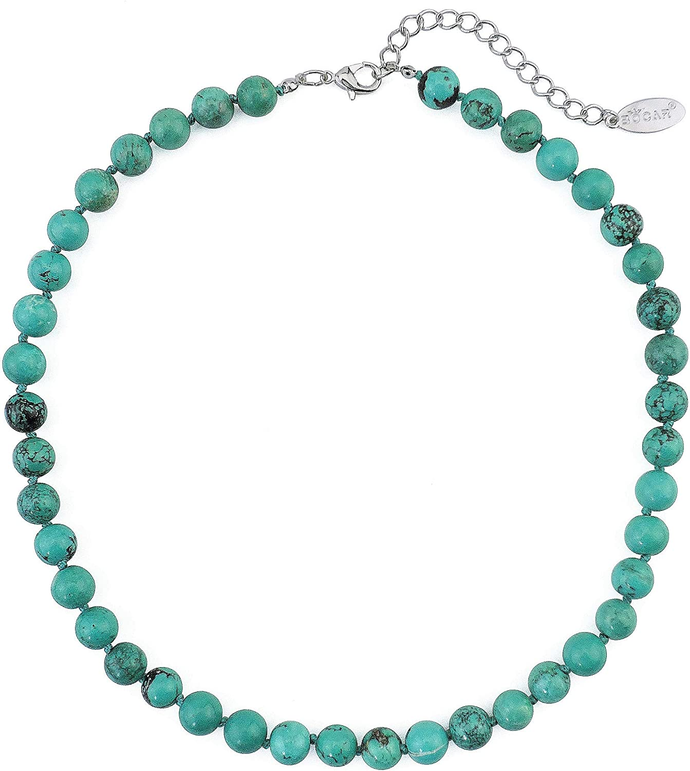 Bocar Natural Stone Beads Collar Necklace for Women Gift