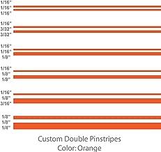1060 Graphics Double Vinyl Pinstripes/Pinstriping (Orange) 1/8