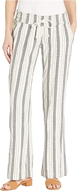 aff57db505a5b Roxy oceanside stripe pants micro stripe combo true black | Shipped ...