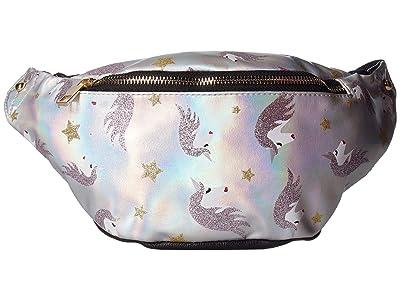 OMG! Accessories Glitz Unicorn Hologram Fanny Pack (Black) Cross Body Handbags