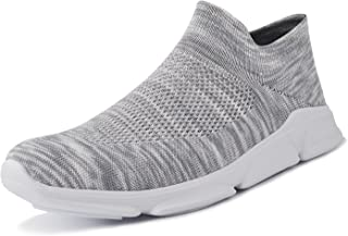 Mens Womens Walking Shoes Lightweight Mesh Slip-on Running Sneakers