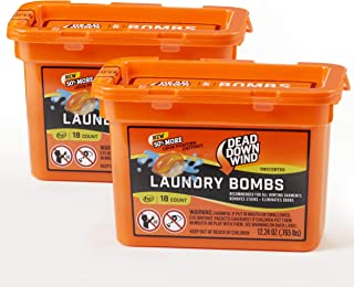 Dead Down Wind Laundry Bombs | 2 Pack | 18 Count (36 Total) | Unscented | Laundry Detergent, Odor Eliminator + Stain Remov...