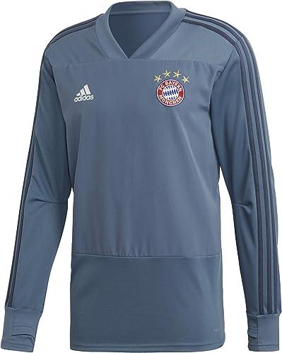 Adidas FCB EU TR Top Sweat-Shirt FC Bayern, Homme, gris (acenat)