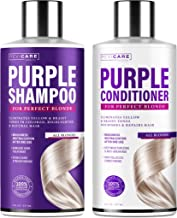 Purple Shampoo and Conditioner Set - Blonde Shampoo - Made in USA - Purple Hair Silver Shampoo - Hair Toner Shampoo & Cond...