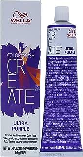 Wella Color Fresh Create Semi-Permanent Color Ultra Purple for Women, 2 Ounce