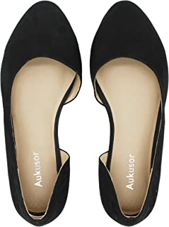 Aukusor Women s Wide Width Ballet Flat - Comfortable Sandals Slip On  Pointed Toe Summer Casual Shoes 891c16a2c2