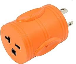 AC WORKS [ADL620620] NEMA L6-20P 20Amp 250Volt Locking Plug to NEMA 6-15/20R 15/20Amp 250Volt Female Connector Adapter
