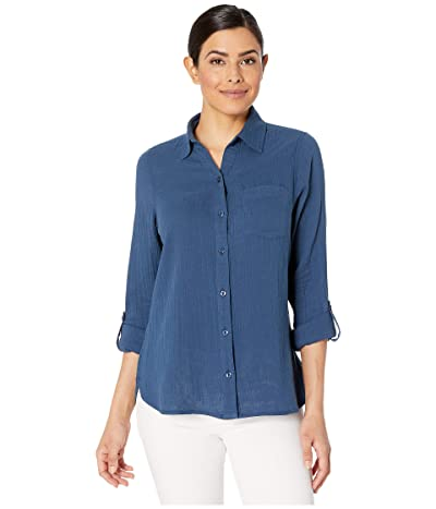 Jag Jeans Long Sleeve Adley Double Cloth Button-Up Shirt (Inkwell) Women
