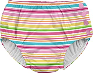 i play. Girls' Baby Snap Reusable Swimsuit Diaper