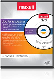 Maxell 190059 DVD Only Lens Cleaner, with Equipment Set Up and Enhancement Features