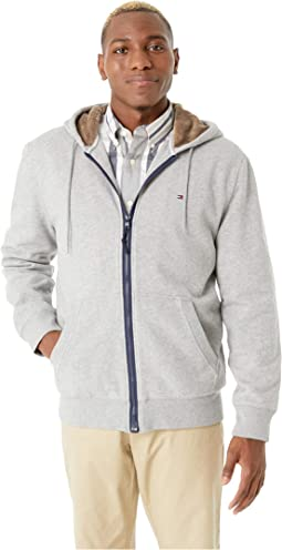 Hoodie with Magnetic Zipper and Fleece Lining