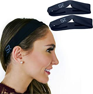 Anti Odor Sports Headband for Men and Woman (2 Pack) Lightweight, Copper Infused Band Moisture Wicking Workout Sweatbands ...