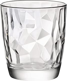 Bormioli Rocco 302260 Diamond Trasparente Whiskyglas, 390 ml, Glas, transparent, 6 Stück