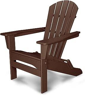 POLYWOOD Palm Coast Adirondack Chair, Mahogany