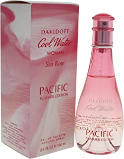 Davidoff Cool Water Sea Rose Pacific Eau de Toilette Spray for Women, 3.4 Ounce