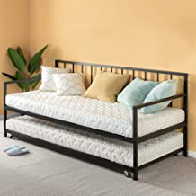 Zinus Eden Twin Daybed and Trundle Set / Premium Steel Slat Support / Daybed and Roll Out Trundle Accommodate Twin Size Ma...