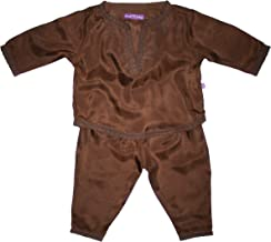 Diwali Baby Boys' Indian Infant Outfit - 100% Silk - 0-12 Months