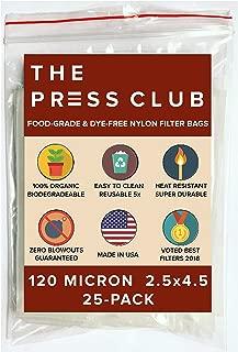 120 Micron   Premium Nylon Tea Filter Press Screen Bags   2.5