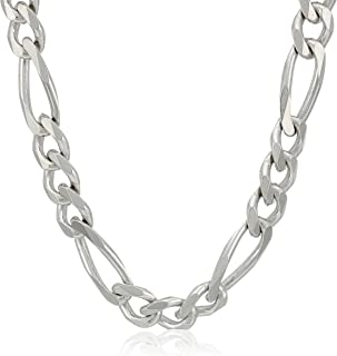 Men's Sterling Silver Italian Solid Figaro Link-Chain Necklace