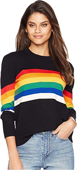 Rainbow Motif Knit Sweater