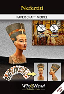 Nefertiti - Paper Craft Model, 3D Assembly Puzzle, Home Décor, Educational Birthday Gift