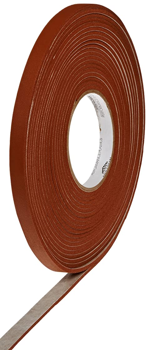 TapeCase 100S Strip N Strick Tape - 0.5 in. x 1/8 in. x 30 ft. (W x H x L) Gasket Silicone Adhesive Tape Roll with Shear Strength, Solvent Resistance. Adhesives and Tapes