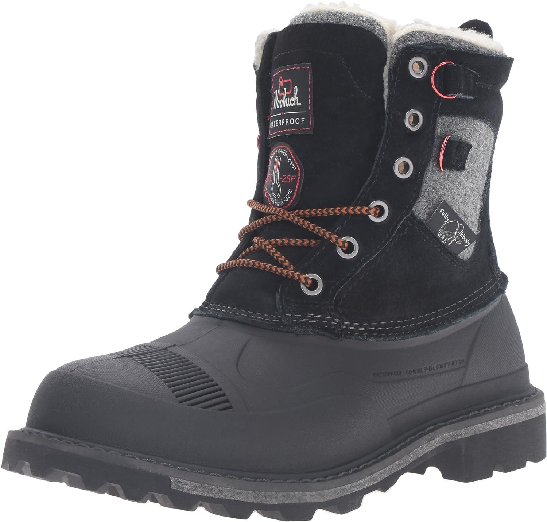 Woolrich herrar Fully Wooly Lace Snow Boot, svart, 13 M USA