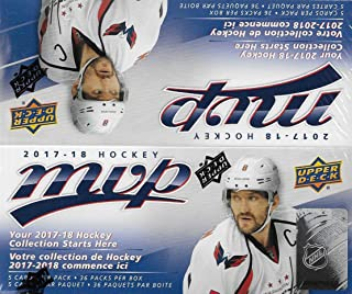 2017 2018 Upper Deck MVP NHL Hockey Series Unopened Retail Box of 36 Packs with Chance for Stars, #1 Draft Picks and Rookie Cards
