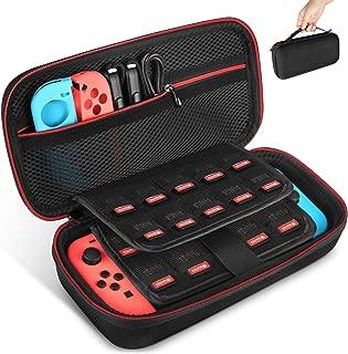 Nintendo Switch ケース-Keten 任天堂Switch セミ ハード ケース 改良型 消臭処理 防汚 耐衝撃 ニンテンドースイッチ保護カバー 収納バッグ ハンドストラップ付 ゲームカードケース