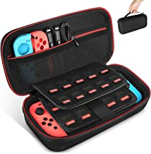 Carrying Case for Nintendo Switch, Keten Switch Case with 19 Game Cartridges, Upgraded Protective Portable Hard Shell Carr...