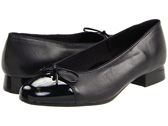 ara  Bel (Navy Leather withPatent Tip) Womens Slip-on Dress Shoes