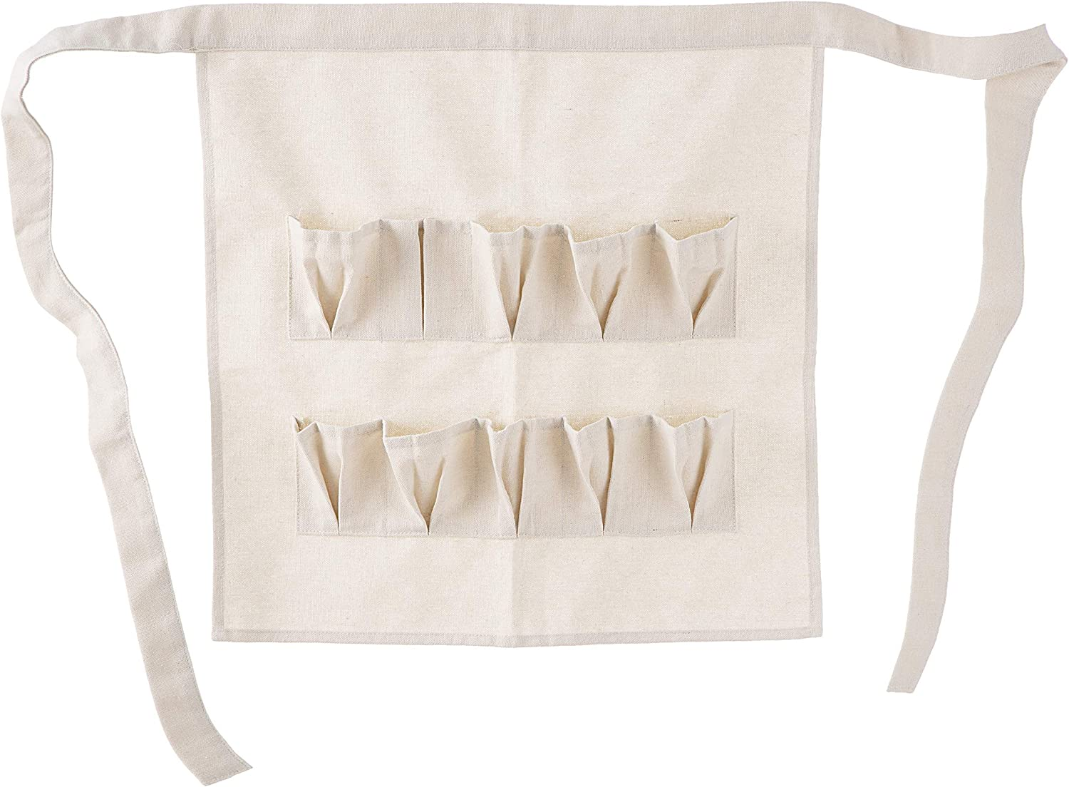 Darice Canvas Egg Apron: Natural Sacramento Mall Shipping included Adult Size 19.5 Inches 20 x